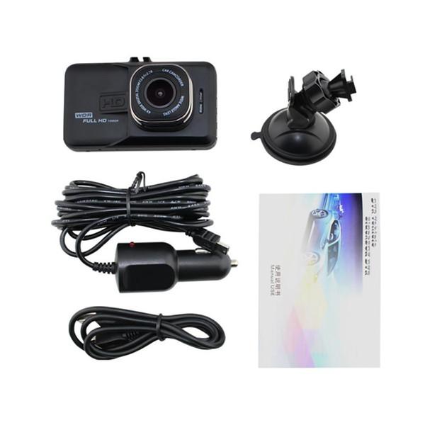 Hi-Quality 3inches Full HD Real 1080P Car DVR Video Recorder Dash Camera Driving Recorder Aut Video Recorder Memory Card Dash Cam G-Sensor
