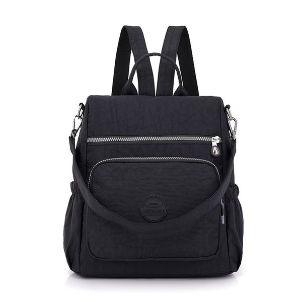 Fashion Women Waterproof Nylon Backpack Korean Style Designers Shoulder School Bag Leisure Rucksack For Girls J190628