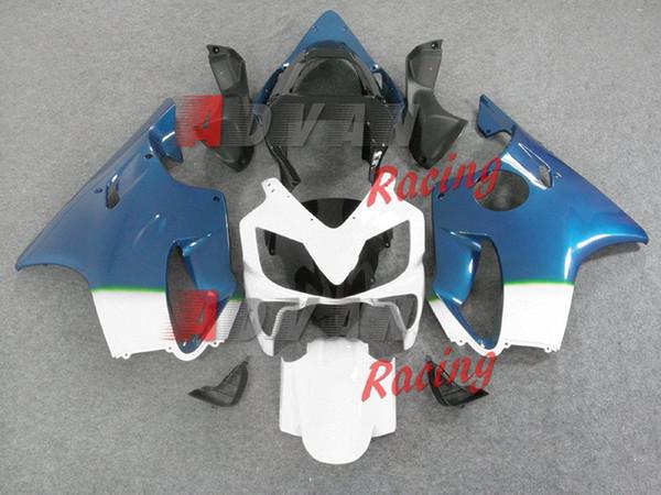 New Bodywork ABS fairings Kits Fit for HONDA Injection molded CBR 600 F4i FS 01 02 03 CBR600 2001 2002 2003 fairing kits cool white blue