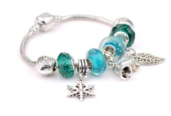 Fashion 925 Sterling Silver Green Bubble Murano Lampwork Glass & Crystal European Charm Beads Fits Pandora Charm bracelets Style Bracelets