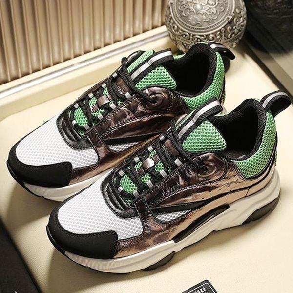 2019 Erkek Ayakkabı Spor Trendi Erkek Zapatillas Flats Artı Büyük Boy Snakers Chaussures de spor Orijinal Kutusu ile B22 sneaker dökün Sneaker Sıcak