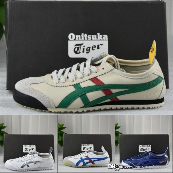 2019 Onitsuka Tiger Mid Cut Men Stripe Black Green Top Qualit Designer Shoes Sport Sneakers Trainers 36-44