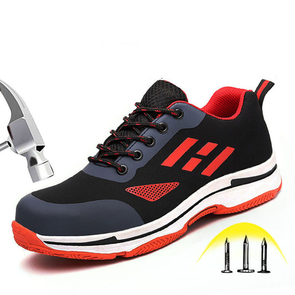 Hot indestructible Safety Shoes Mens Steel Toe Covers Working Shoes Breathable Summer Tooling Boots Protect Footwear