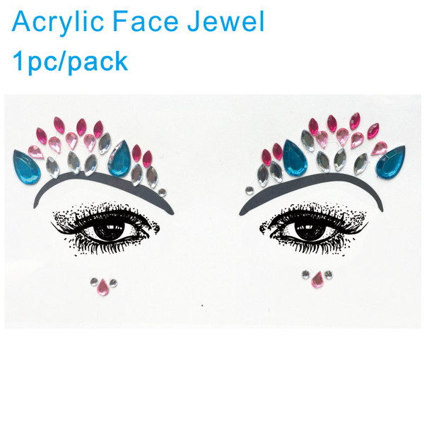 AFG03 Acrylic Face Gem Tattoo Sticker ideal for Party and Night Club Eyeshadow Makeup Decor to Sparkle