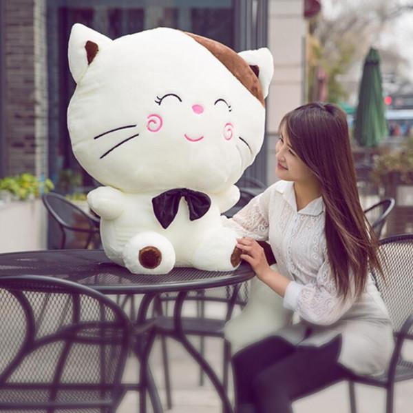 yastık bebek sevimli bebek peluş yastık kız peluş hediye kedi peluş oyuncak büyük yüz kedi bebek