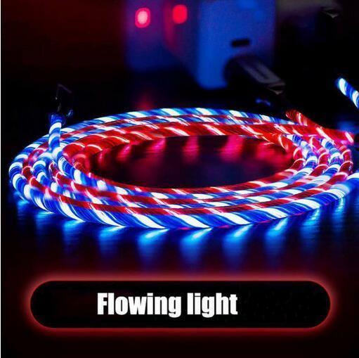 LED leuchtet fließend blinkend sichtbar USB C Typ C Ladekabel 1M 3FT Daten Sync Typ C Leuchtkabel für Samsung S7 S6 Edge HTC