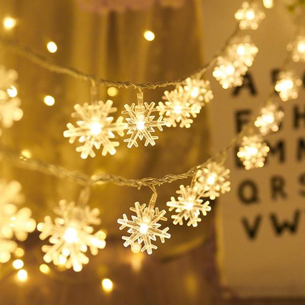HUIRAN 20 LED Kar Tanesi Peri Dize Işık Noel Süsler Ağacı Dekor 2019 Ev Navidad Noel için Merry Christmas Süslemeleri