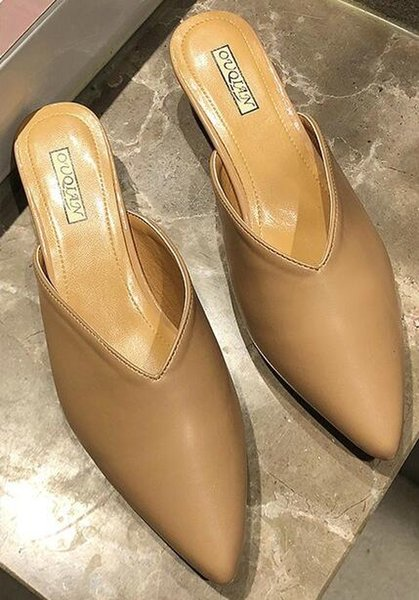 Female spring new European and American tide tip stiletto high heel sandals and slippers fashion wear baotou half drag one word drag