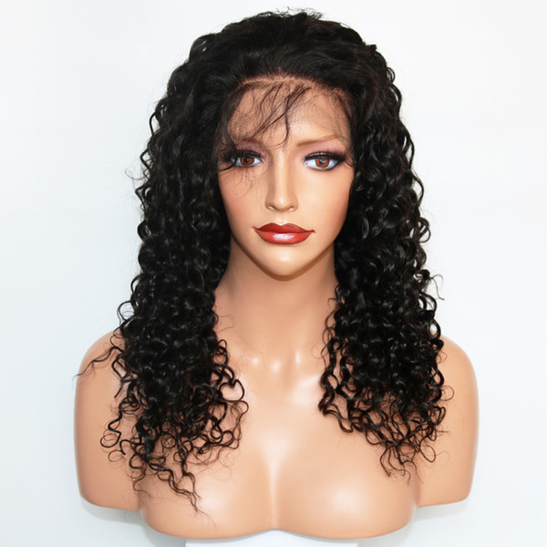360 Full Lace Human Hair Wigs Pre Plucked For Black Women Wet And Wavy Virgin Brazilian 360 Lace Frontal Wig With Baby Hair