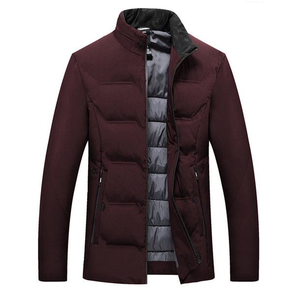 Men Jacket Mens Fashion Men's Autumn Winter Jackets Male Casual Pocket Button Thermal Leather Jacket Top Coat Casual Mens Male