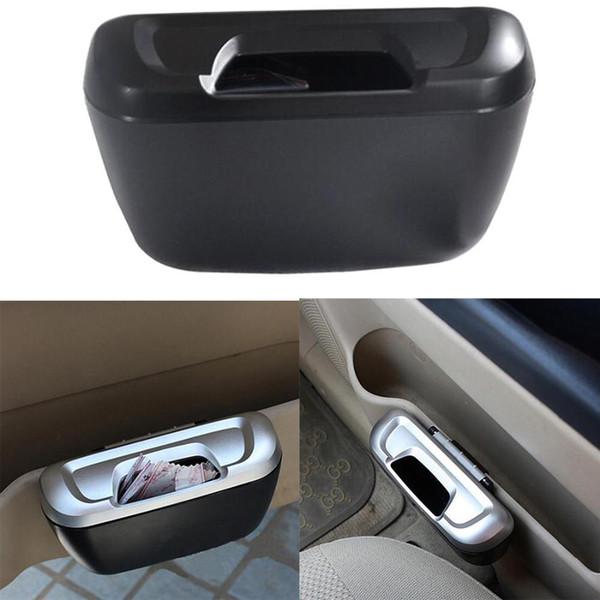 top popular Dewtreetali Type Mini Car Garbage Can Auto Rubbish Trash Can Dust Scraps Paper Case Holder Bin Vehicle Organizer Office Home 2019