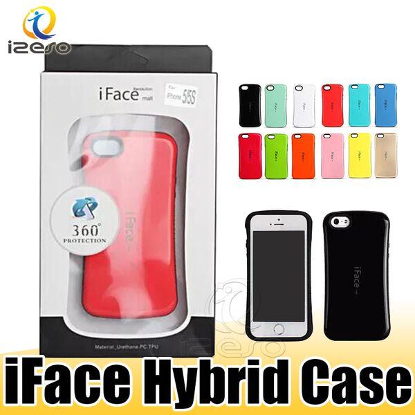 iFace centro de cintura pequeña cubierta trasera híbrida para iPhone XS MAX XR 8 7 6 s Samsung S10 Plus S10e con caja al por menor
