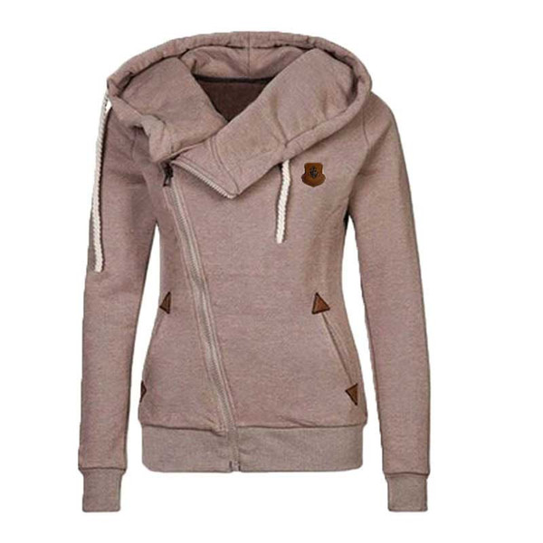 Kenancy Solid Color Zip Up Hooded Sweatshirt Autumn Winter Pocket Patchwork Women Hoodies Streetwear Pullover Tops S-XXL Cheap