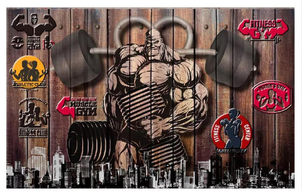 Customized 3D Stereo Sports Gym Photo Wall Paper Mural Retro Vintage Gym  Background Wallpaper For Walls 3d Wild Screen Wallpaper Window Wallpaper  From