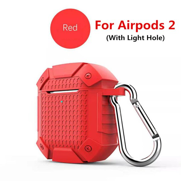 Red For airpods 2 (With Light Hole)
