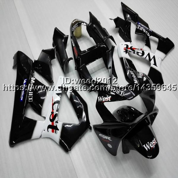 23colors+5Gifts Injection mold west black motorcycle Fairings hull for HONDA CBR929RR 2000-2001 CBR 929 RR 00 01 ABS motor panels