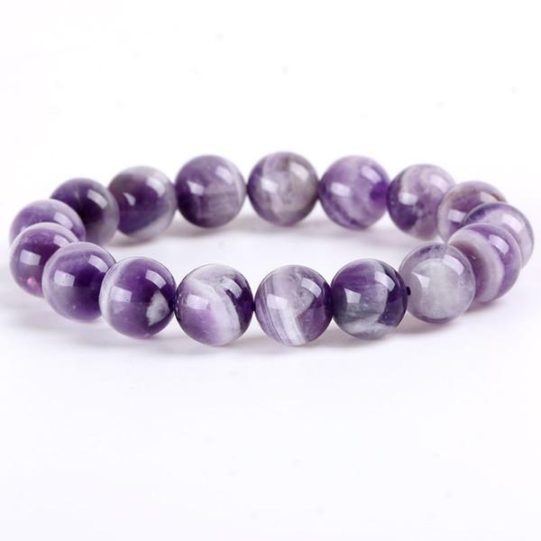 6A Véritable Améthystes Rêve naturel Bracelets de pierre lavande tour de niveau Mille Améthystes Bracelet pour les femmes Bijoux Fashion