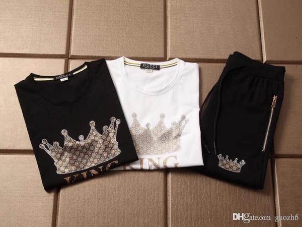 Hot Top Luxurys Designers Estate di marca per abiti da uomo Ricamo Cat Letter Tute da ginnastica T-shirt Shorts Camicia da equitazione Tuta sportiva Tee