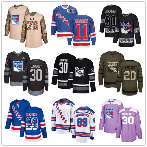 best selling Custom New York Rangers Jerseys 11 Mark Messier 30 Henrik Lundqvist 76 Brady Skjei 20 Chris Kreider 89 Pavel Buchnevich 9 Panarin USA Flag