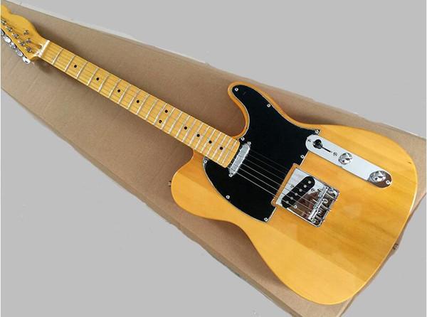 Chitarra elettrica personalizzata ASH corpo Boutique Factory con battipenna nero, tastiera in acero, hardware cromato, offerta personalizzata