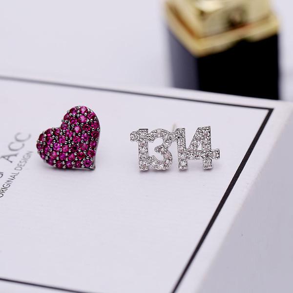2019 moda tatlı 925 gümüş iğne küçük küpe aşk hayatı aşk küpe sevimli zarif bayanlar hediye takı zarif moda küpe