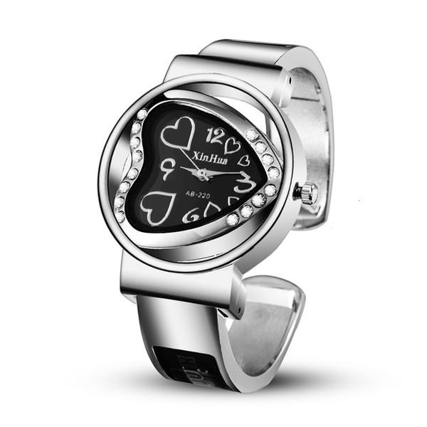 2019 Saat Kadınlar Paslanmaz Çelik Bilezik Bileklik Elmas taklidi Tasarımcı Lüks Parti Elbise Kadın Saat relógios Feminino