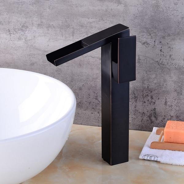Ottone antico rubinetto più alto rubinetto del bagno rubinetto miscelatore cascata Vintage lavello rubinetto ColdHot miscelatore lavabo cina sanitari