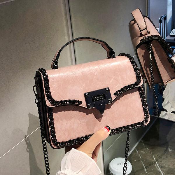 Retro Moda Feminina Bolsa Quadrada 2019 Novo Designer de Mulher Bolsa de Qualidade PU de couro Das Mulheres saco Cadeia Tote Ombro Messenger Bag