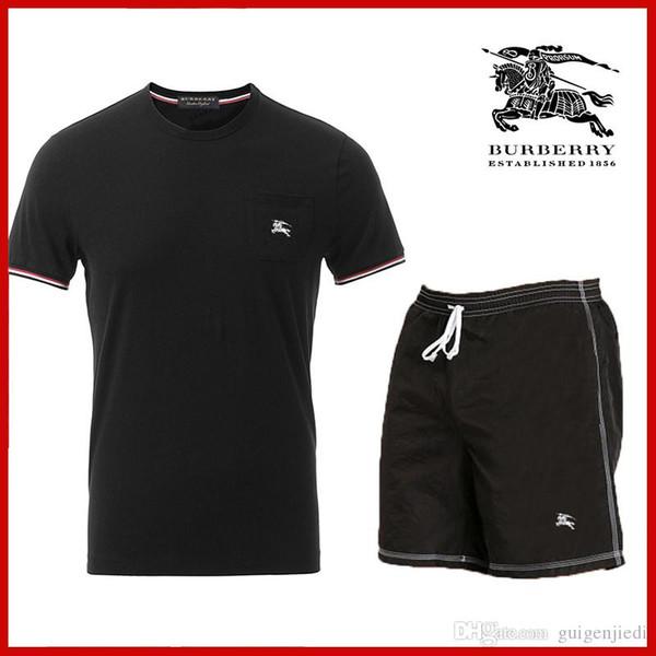 New 2019 2 PCS! Summer New Men's Shorts Casual Suits fashion summer men short sleeve men's tracksuit sport suit 6 colors S-5XL fre