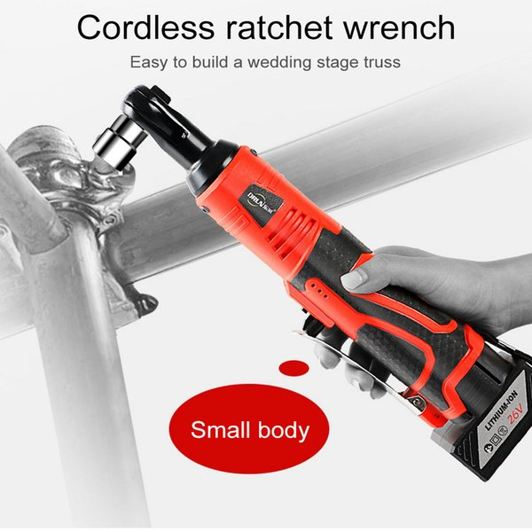 12V Electric Ratchet Wrench with Lithium Rechargeable Battery Portable Electric Cordless Impact Wrench Repair Power Tool 12V 26V