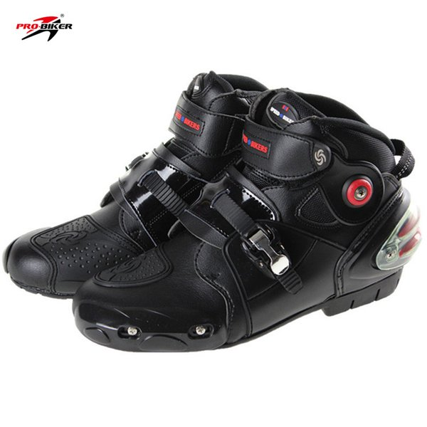 2018 New Genuine Pro-biker boots motorcycle racing boats men motocross riding shoes size 40-47 black free shipping