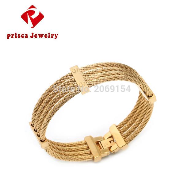 Pulseira de fio de aço inoxidável Novo Charme Bangle Homem de prata Jóias de moda Titanium Steel Chain Link Bracelet Bangle Trendy