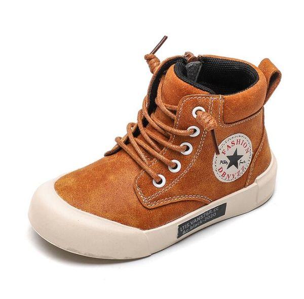 Gerçek Deri Çocuklar Martin Boots Boys Kar Ayakkabı Su geçirmez Sıcak Kürk Çocuk Bilek Boots Bebek Boys Kış Sneakers 2019