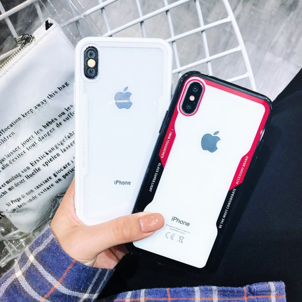 Soft Clear Case for IPhone X XS MAX XR 8 7Plus 6S Anti Shock for Galaxy Note 9 8 S9 Plus S8 Cradle Design Phone Shell Cases Back Cover