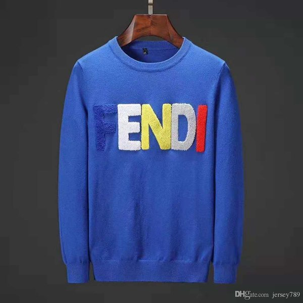 18 Men's Black Striped Knitted Wool Letter Embroidered Sweatshirt Men's Brand Sports Sweater Jacket Jacket Cardigan Cardigan Desig