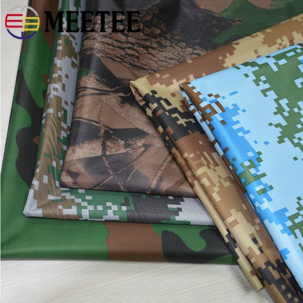Meetee wide150cm 0.2mm Grueso 450D Impermeable Camuflaje Oxford Tela PVC Tienda exterior Scrapbooking Paño DIY Costura FA013