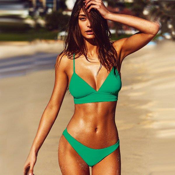 green sexy bikini