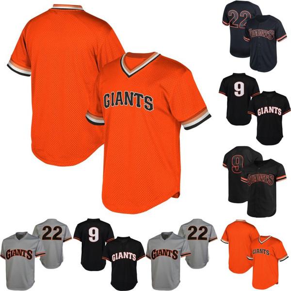 San Francisco 22 Will Clark 9 Matt Williams 1989 Will Clark Hommes Femmes Rétro Baseball Maillots Livraison Gratuite S-XXXL