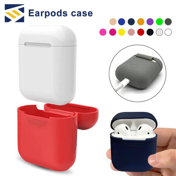 Pour Apple Airpods Housse En Silicone Souple Ultra Mince Protecteur Cover Sleeve Poche pour Air pods Cas D'écouteurs