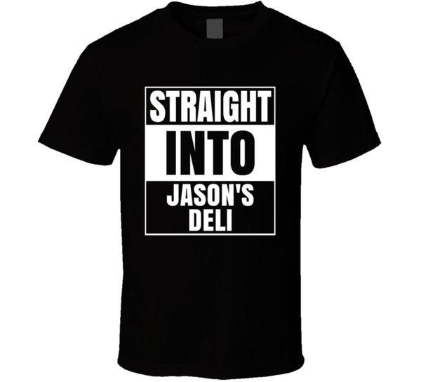 Düz Jason's Deli Içine Fast Food Fan T ShirtFunny ücretsiz kargo Unisex Rahat Tshirt