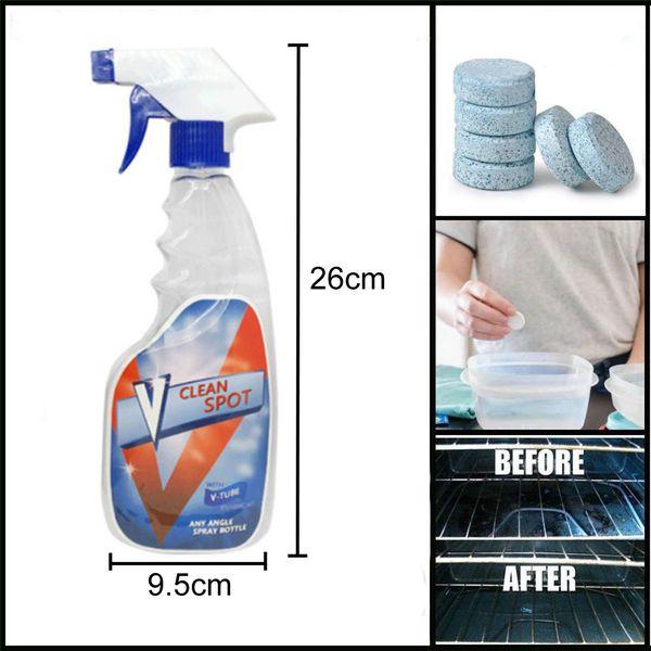Großhandel Auto Windschutzscheibe Glasreiniger Reinigungsspray 10 stücke Skala Entfernung Dekontamination Brausetablettenreiniger Set Flasche DH0625 T03