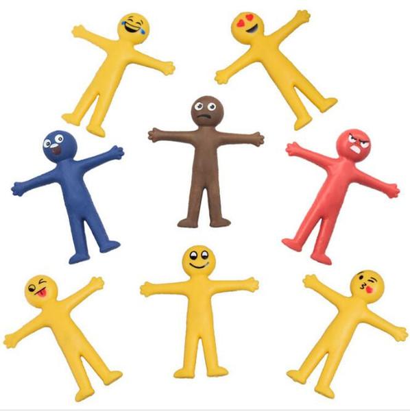 Emoji Yaratıcı yumuşak tutkal sarı heykelcik güler yüz ifadesi ofis mobilyaları İnsanın Gülen Yüz oyuncaklar havalandırma katlama uzatabilirsiniz