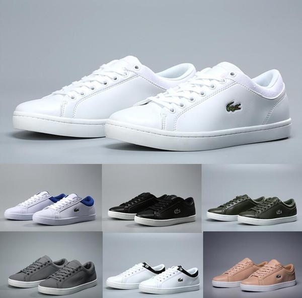 Zapatos deportivos de lLACOSTE para hombre, francia, cocodrilo, bordado, zapatillas de deporte, negro, blanco, azul vino, rojo, zapatillas para caminar, zapatillas de deporte