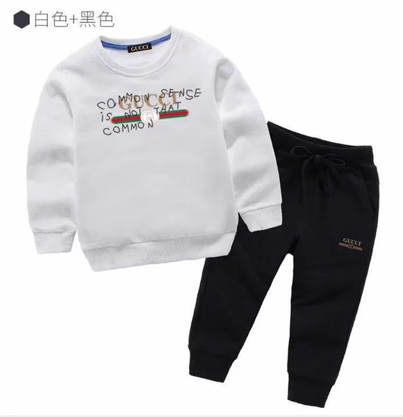 best selling classic Luxury Designer Baby t-shirt Pants coat jacekt hoodle sweater olde Suit Kids fashion Children's 2pcs Cotton Clothing Sets