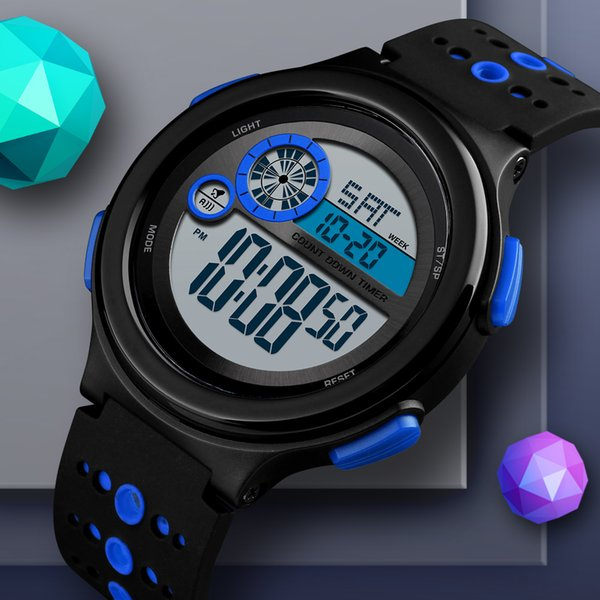 Men Digital Sports Watch Top wholesale Brand Countdown Waterproof Watches Men's LED Electronic Clock 12/24 Hour Relogio