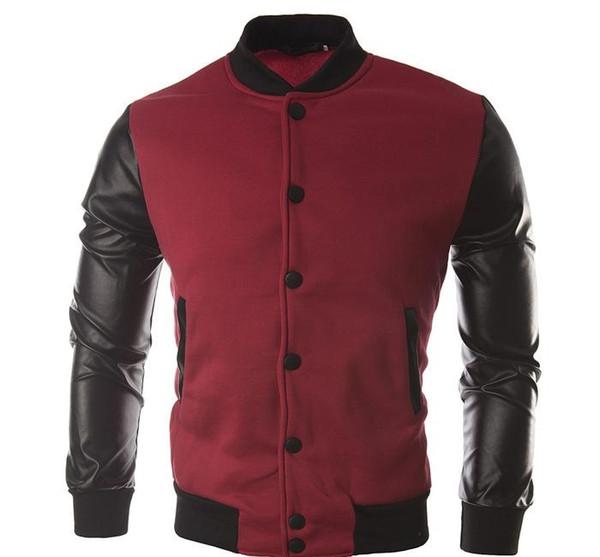 Новая осенняя мода Стиль Pachwork метанию пальто куртки вскользь фуфайки пальто Hoodie куртки Марка Baseball Jacket