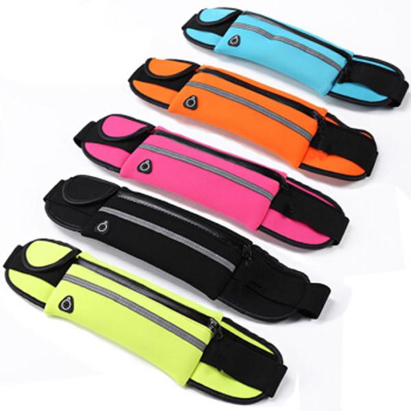 Bolsa de deporte Bolsa de cintura para correr Bolsillo para correr Portátil impermeable Ciclismo Cojín Bolsas para cinturón de paquetes antirrobo al aire libre