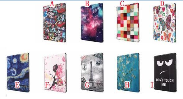 3 Folding Magnetic Wallet Leather Case For Huawei Honor 5 T5 8.0 Tablet Luxury Cartoon Owl Butterfly Smart Stand Holder Skin Cover 30pcs