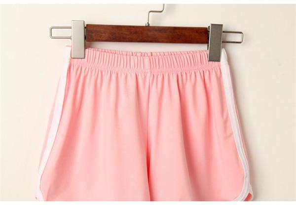 Frauen Sport Shorts reine Farbe Shorts für den Sommer im Freien Freizeitsport koreanische Mode Sport Yoga Beach Pants