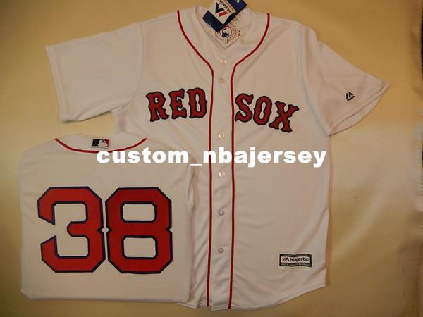 Cheap custom CURT SCHILLING #38 Cool Base Baseball Jersey Stitched Customize any name number MEN WOMEN BASEBALL JERSEY XS-5XL